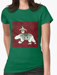 Winter Pals Red Womens Fitted T-Shirt