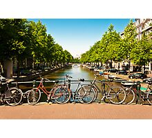 Bicycles in Amsterdam Photographic Print