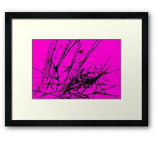Strike Out Pink and Black Abstract Framed Print