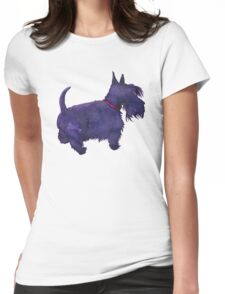 Scottish Terrier Watercolour  Womens Fitted T-Shirt