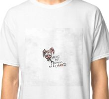 "Hand Drawn ""Where's My F***ing Carrots?"" Bunny Classic T-Shirt"