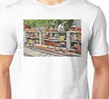 The Wall of Old Chainsaws Unisex T-Shirt