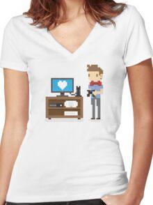 Nerd 4 Life Women's Fitted V-Neck T-Shirt