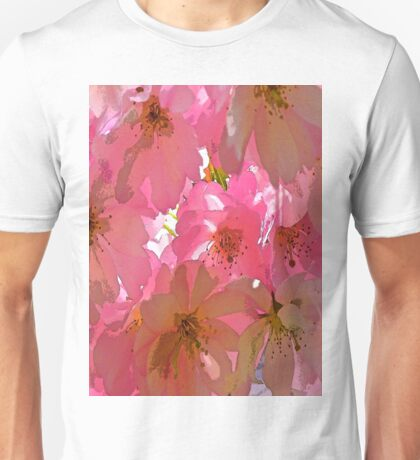 Pink Cherry Blossoms  Unisex T-Shirt