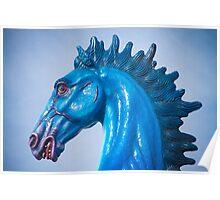 DIA Blue Mustang Portrait Poster