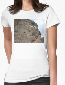 face the rock Womens Fitted T-Shirt