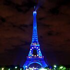 Eiffel Tower in blue by natureloving