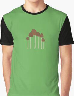 Small Mushrooms Graphic T-Shirt