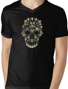 Musical Instruments Rock Skull Mens V-Neck T-Shirt