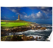 Hercules Tower lighthouse Poster