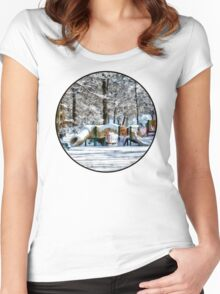 Winter Playground Women's Fitted Scoop T-Shirt