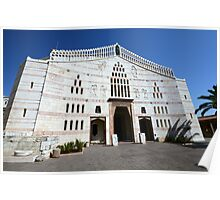 Israel, Nazareth, Exterior of the Basilica of the Annunciation Poster