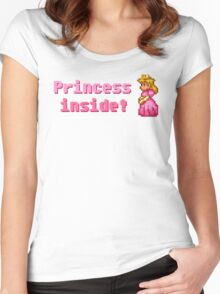Princess inside! Women's Fitted Scoop T-Shirt