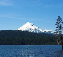 Lake of the Woods with Mount McLoughlin, Oregon by Claudio Del Luongo