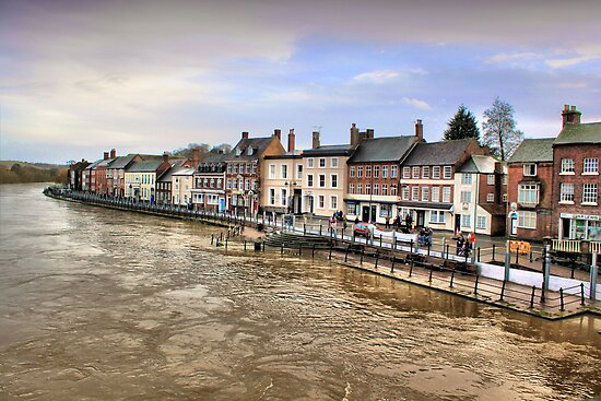 Bewdley from the bridge by Cat Perkinton