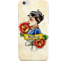 Maria Poppins lady head iPhone Case/Skin