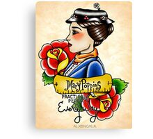 Maria Poppins lady head Canvas Print