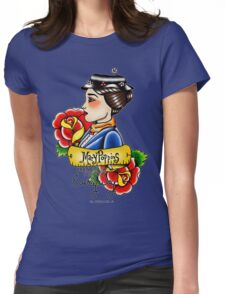 Maria Poppins lady head Womens Fitted T-Shirt
