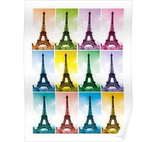 Eiffel Tower Pop Art Poster