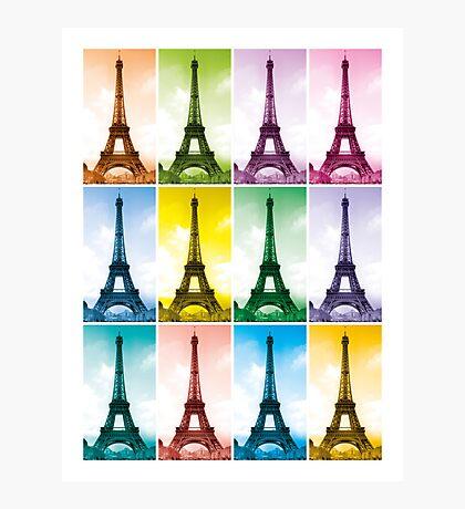 Eiffel Tower Pop Art Photographic Print