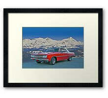 1965 Chevelle Malibu Convertible Framed Print