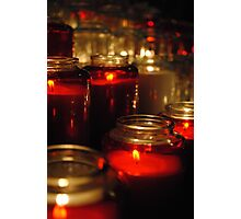 Candles Photographic Print