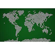 Football Soccer Balls World Map Photographic Print