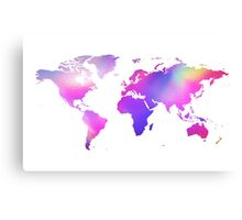 Holographic map Canvas Print
