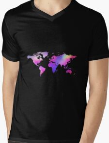 Holographic map Mens V-Neck T-Shirt