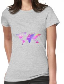 Holographic map Womens Fitted T-Shirt