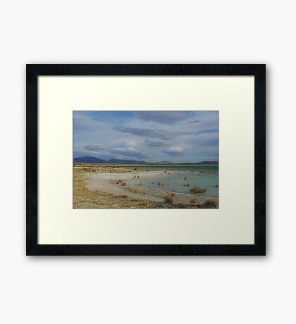 Crystal Reservoir, Nevada Framed Print