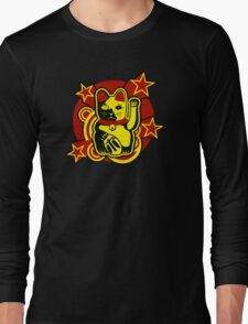 Maneki Neko Chinese Lucky Cat Long Sleeve T-Shirt