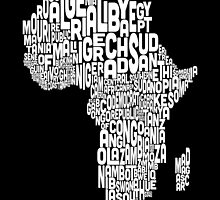 Map of Africa Map Text Art by ArtPrints