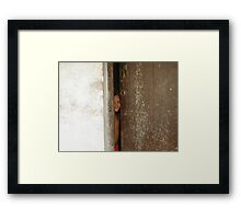 who is? Framed Print