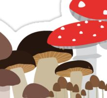 Forest Mushrooms Sticker