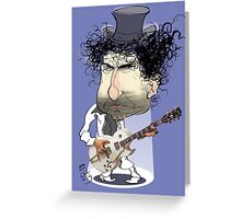 Caricature of Bob Dylan Greeting Card