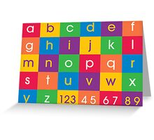 Alphabet Colors Greeting Card