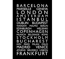 Europe Cities Bus Roll Photographic Print
