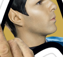 Spock Off Sticker