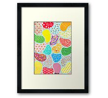 COMPOSITION OF CUT SHEETS AND DECORATIVE PAPER Framed Print