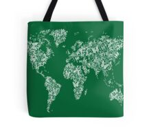 Butterflies Map of the World Map Tote Bag