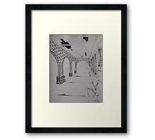 Abandoned Bath House, Sharon Springs NY Framed Print