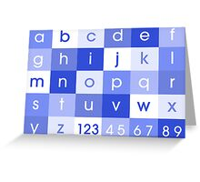 Alphabet Blue Greeting Card