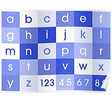 Alphabet Blue Poster