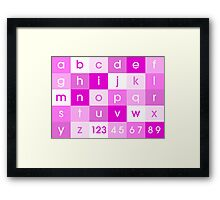 Alphabet Pink Framed Print