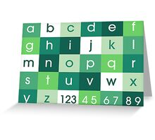 Alphabet Green Greeting Card