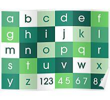 Alphabet Green Poster
