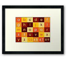 Alphabet Sunset Framed Print