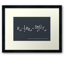 Einstein Theory of Relativity Framed Print