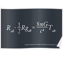 Einstein Theory of Relativity Poster